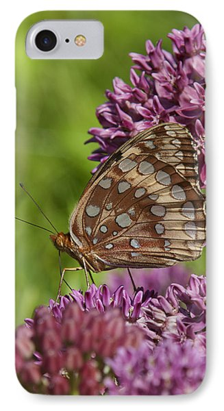 Great Spangled Fritillary Din194 IPhone Case by Gerry Gantt