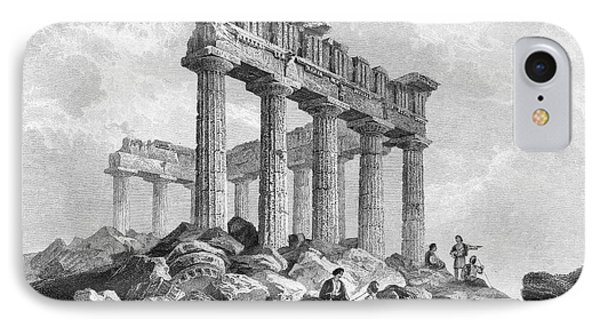 Greece: The Parthenon 1833 Phone Case by Granger