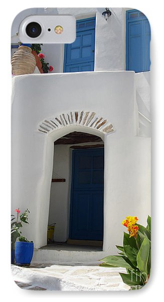 Greek Doorway IPhone Case by Jane Rix