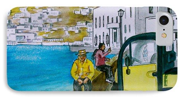 Greek Island Of Mykonis IPhone Case by Frank Hunter