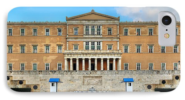Greek Parliament Phone Case by Constantinos Iliopoulos