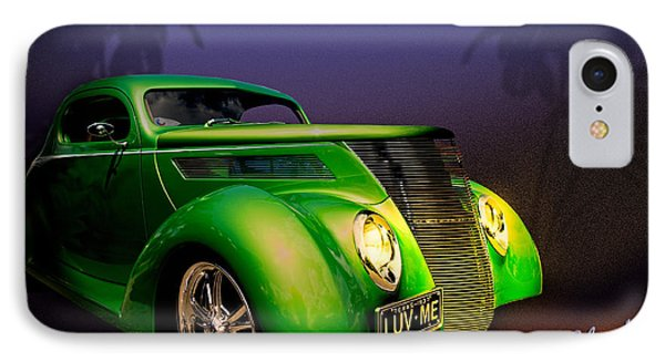Green 37 Ford Hot Rod Decked Out For A Tropical Saint Patrick Day In South Texas Phone Case by Chas Sinklier