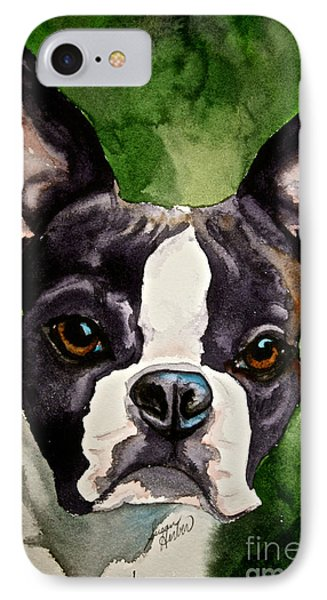 Green Black And White IPhone Case by Susan Herber