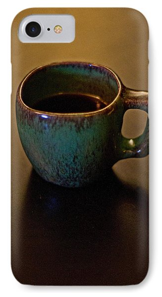 IPhone Case featuring the photograph Green Cup Of Coffee by Randall  Cogle