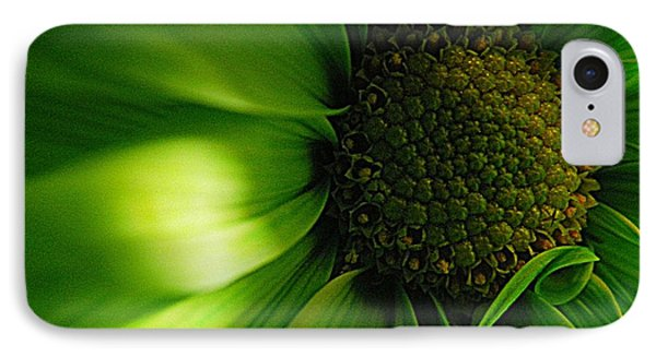 IPhone Case featuring the photograph Green Daisy by Robin Dickinson