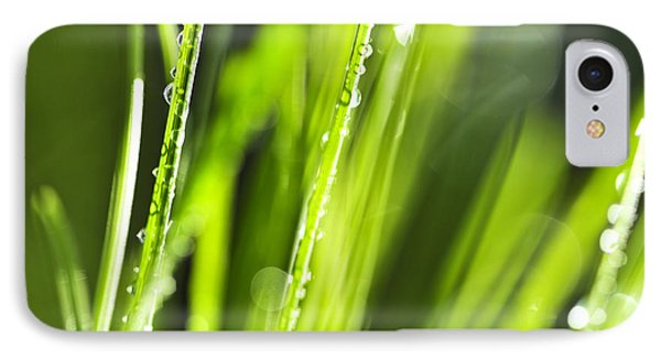 Green Dewy Grass  Phone Case by Elena Elisseeva