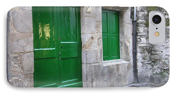 IPhone Case featuring the photograph Green Door by Arlene Carmel