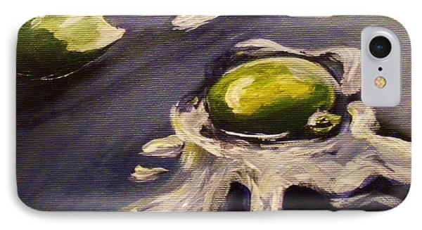 IPhone Case featuring the painting Green Eggs No Ham by Karen  Ferrand Carroll