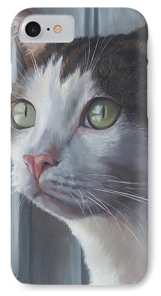 Green Eyed Cat IPhone Case by Alecia Underhill