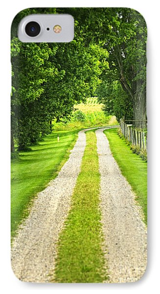 Green Farm Road Phone Case by Elena Elisseeva