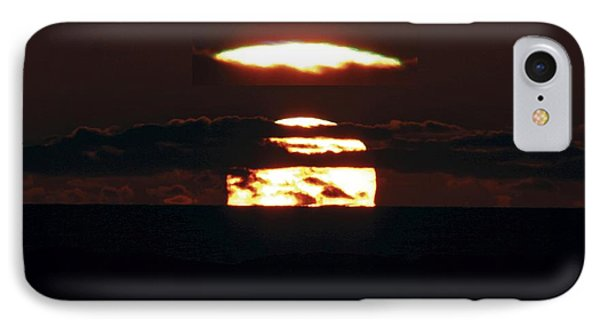 Green Flash At Sunset Phone Case by Laurent Laveder