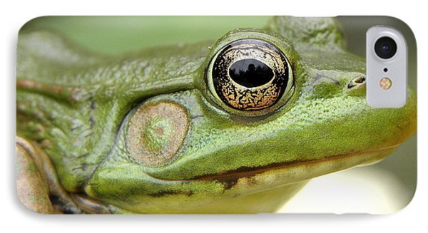 Green Frog Phone Case by Griffin Harris