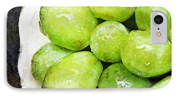 Green Grapes On A Plate Phone Case by Andee Design