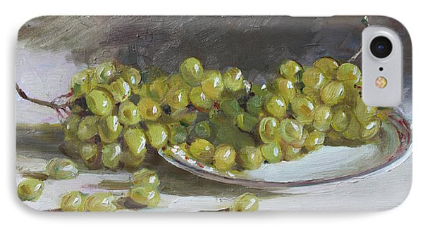 Green Grapes  IPhone Case by Ylli Haruni