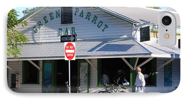 Green Parrot Bar In Key West IPhone Case by Susanne Van Hulst