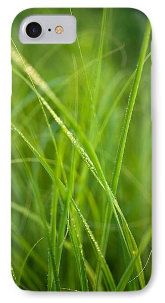 Green Prairie Grass Phone Case by Steve Gadomski