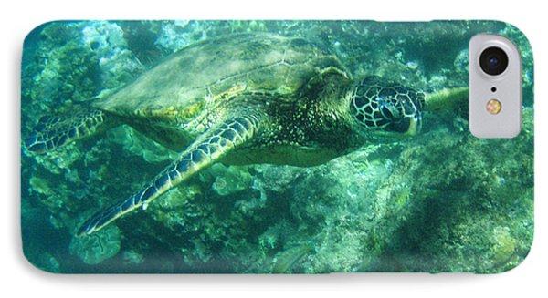 Green Sea Turtle Hawaii Phone Case by Bob Christopher