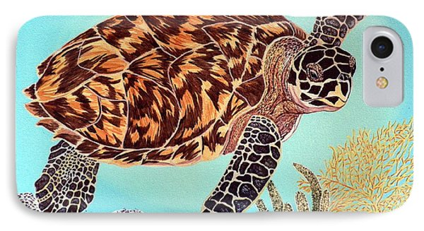 Green Seaturtle 1 Phone Case by Nanci Fielder