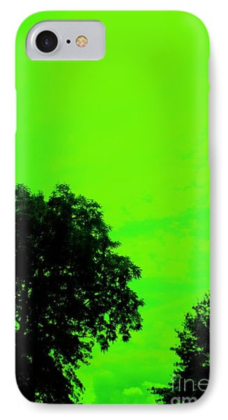 Green Sky 1 Phone Case by Michael Grubb