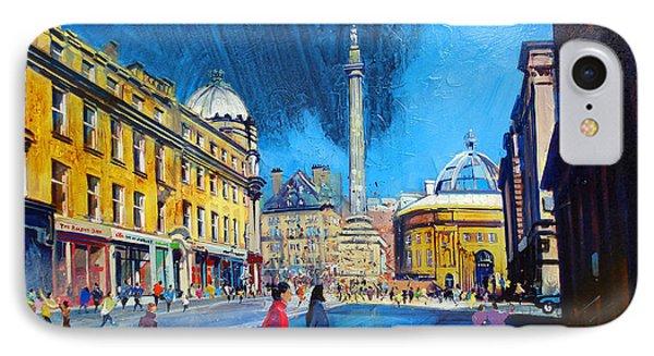Grey Street Newcastle Phone Case by Neil McBride