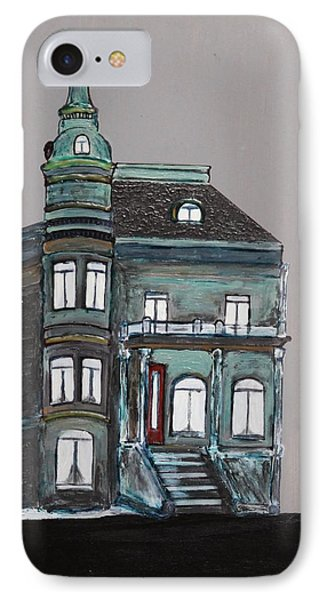 Grey Victorian Mansion-montreal IPhone Case