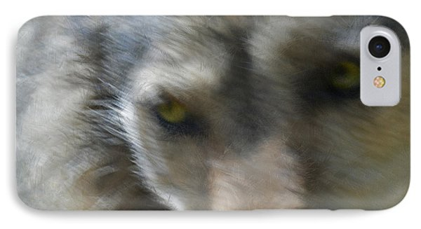 Grey Wolf Painterly Phone Case by Ernie Echols