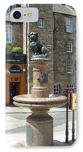 IPhone Case featuring the sculpture Greyfriars Bobby by Richard James Digance