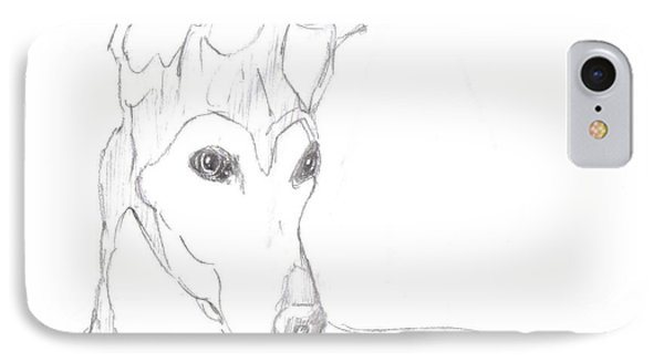 IPhone Case featuring the drawing Greyhound by George Pedro
