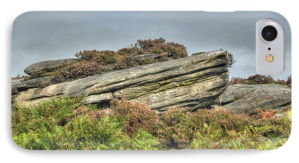 Gritstone Outcrop - Colour Phone Case by Steev Stamford