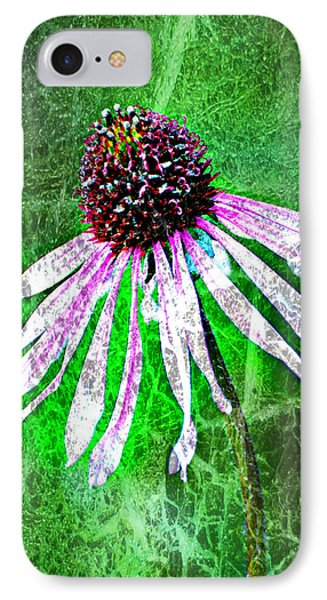 Gritty Coneflower Phone Case by Marty Koch