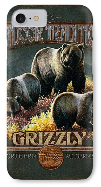 Grizzly Traditions Phone Case by JQ Licensing