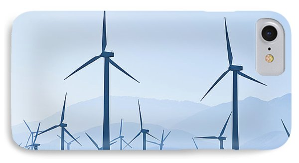 Group Of Wind Turbines Phone Case by Dave & Les Jacobs