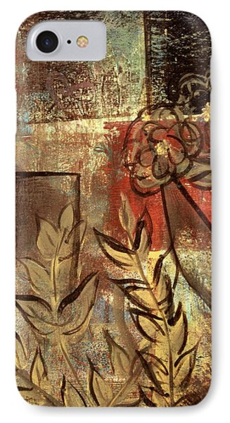 IPhone Case featuring the painting Growing Wild by Kathy Sheeran