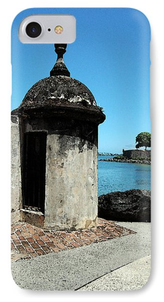 Guard Post Castillo San Felipe Del Morro San Juan Puerto Rico Watercolor Phone Case by Shawn O'Brien