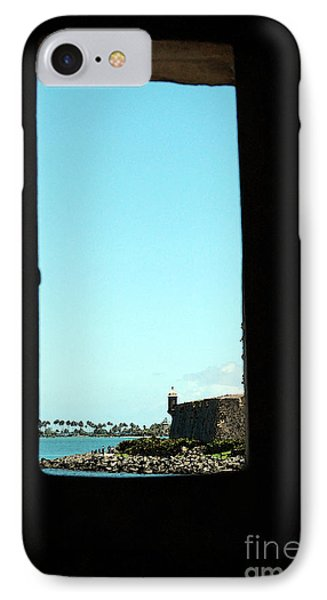 Guard Tower View Castillo San Felipe Del Morro San Juan Puerto Rico Watercolor Phone Case by Shawn O'Brien