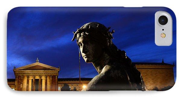 Guardian Angel Of Art IPhone Case by Paul Ward