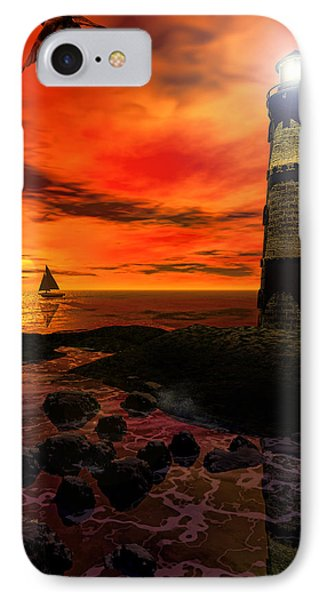 Guiding Light - Lighthouse Art IPhone Case