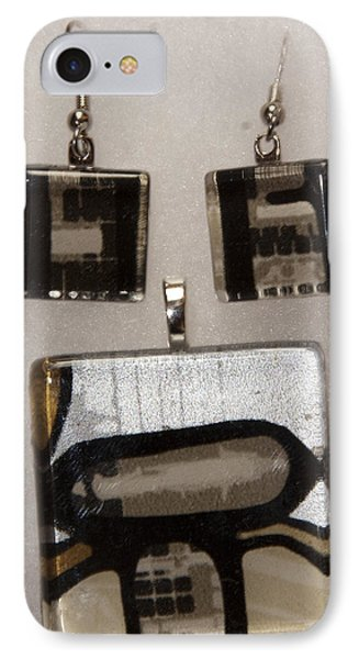 IPhone Case featuring the jewelry Guitar Glass Tile Set by Darleen Stry