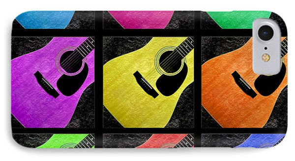 Guitar Tic Tac Toe Black IPhone Case by Andee Design
