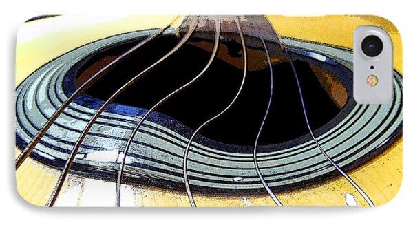IPhone Case featuring the digital art Guitar Warp by Anne Mott
