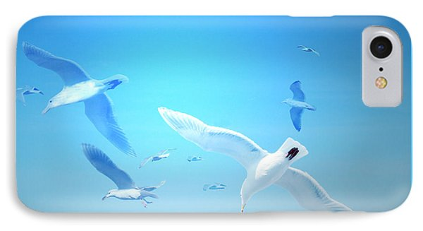 IPhone Case featuring the digital art Gulls In Flight by Michele Cornelius
