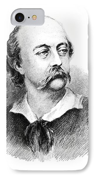 Gustave Flaubert, French Author Phone Case by Photo Researchers