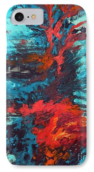 IPhone Case featuring the painting Gut Feeling by Everette McMahan jr