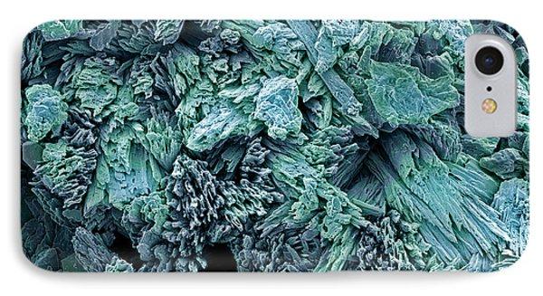 Gypsum Crystals, Sem Phone Case by Steve Gschmeissner