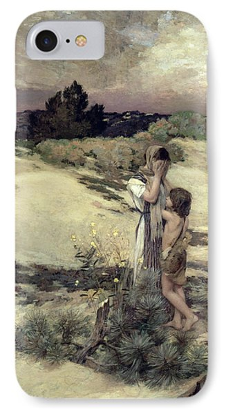 Hagar And Ishmael IPhone Case by Jean-Charles Cazin