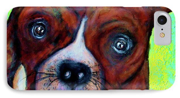 Hailey The Boxer Phone Case by Laura  Grisham