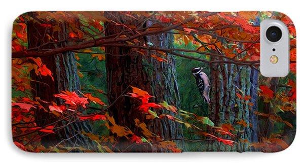 Hairy Woodpecker Phone Case by Ron Jones