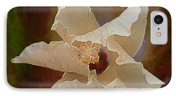 Hibiscus Floats In Space IPhone Case by Barbara Middleton