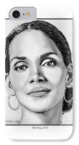 Halle Berry In 2008 Phone Case by J McCombie