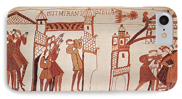 Halleys Comet, Bayeux Tapestry IPhone Case by Photo Researchers